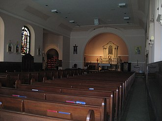 Our Lady of Guadalupe Chapel (New Orleans) - Interior of Our Lady of Guadalupe Church