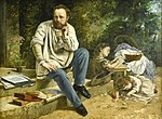 Gustave Courbet (1819-1877) Pierre-Joseph Proudhon en zijn kinderen in 1853 - Petit Palais Parijs 23-8-2017 16-48-24.JPG