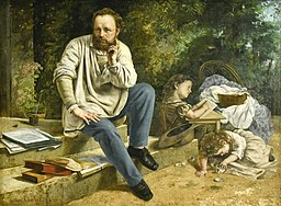 Gustave Courbet (1819-1877) Pierre-Joseph Proudhon en zijn kinderen in 1853 - Petit Palais Parijs 23-8-2017 16-48-24