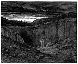 Gustave Doré - Dante Alighieri - Inferno - Plate 8 (Canto III - Abandon all hope ye who enter here)