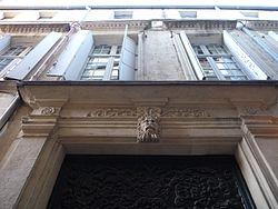 Hôtel de Magny (Montpeller) - Llinda i façana.jpg