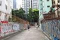 HK 上環 Sheung Wan 水坑口街 Possession Street footbridge 華里 Wa Lane wall picture 塗鴉 Graffiti June 2018 IX2 07.jpg