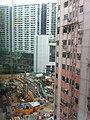 HK 堅尼地城 Kennedy Town 士美非路市政大廈 Smithfield Municipal Services Building 外望景觀 view 觀龍樓 Kwun Lung Lau construction site Sept-2011.jpg