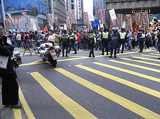 Hong Kong new year marches - Protest on the 1st day of the year in 2010