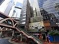 HK Tram 92 view CWB 銅鑼灣 Causeway Bay 怡和街 Wo Street footbridge stairs San Kei Tower October 2019 SS2.jpg