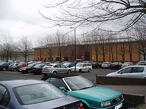 A v Secretary of State for the Home Department - Image: HMP Belmarsh, from carpark