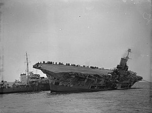 German submarine U-81 (1941) - Image: HMS Ark Royal sinking