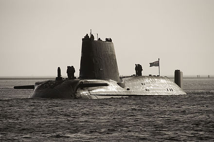 HMS Astute, the first Astute-class nuclear submarine HMS Astute Arrives at Faslane for the First Time MOD 45150806.jpg