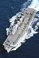 HMS Illustrious sent a birthday message to her Majesty the Queen, on her 80th Birthday. MOD 45146112.jpg