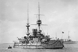 Majestic-class battleship - Image: HMS Mars LOC ggbain 16923