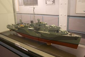 HMS Starling (U66) - Model of Starling on display in the Merseyside Maritime Museum.