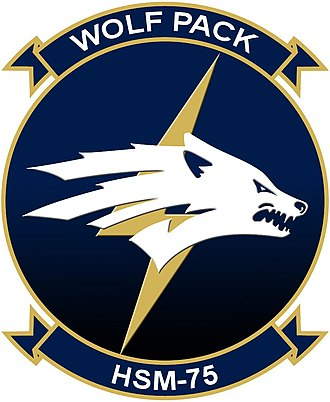 Carrier Air Wing Eleven - Image: HSM 75 Squadron Logo