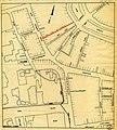 HUA-212054-Plattegrond van het centrale gedeelte van de binnenstad van Utrecht tussen de Oudegracht Achter Clarenburg Mariaplaats Zadelstraat met stratenplan en .jpg