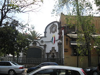 Tlalpan - Facade of the Tlalpan Hacienda