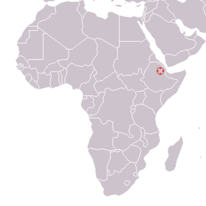 Hadar, Ethiopia ; Australopithecus afarensis 1974 discovery map.png