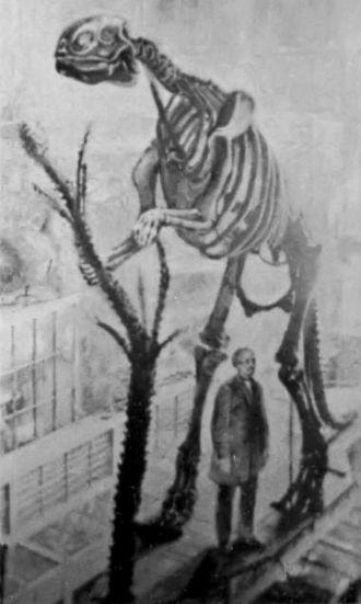 Benjamin Waterhouse Hawkins - Benjamin Waterhouse Hawkins' mounted Hadrosaurus in Philadelphia in 1868, making it the first mounted dinosaur skeleton in the world.