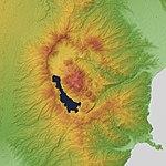 Hakone Volcano 3D. Relief Map(b). SRTM-1 Ver3.jpg