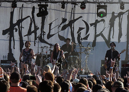 Halestorm performing in 2014 Halestorm 2014.jpg
