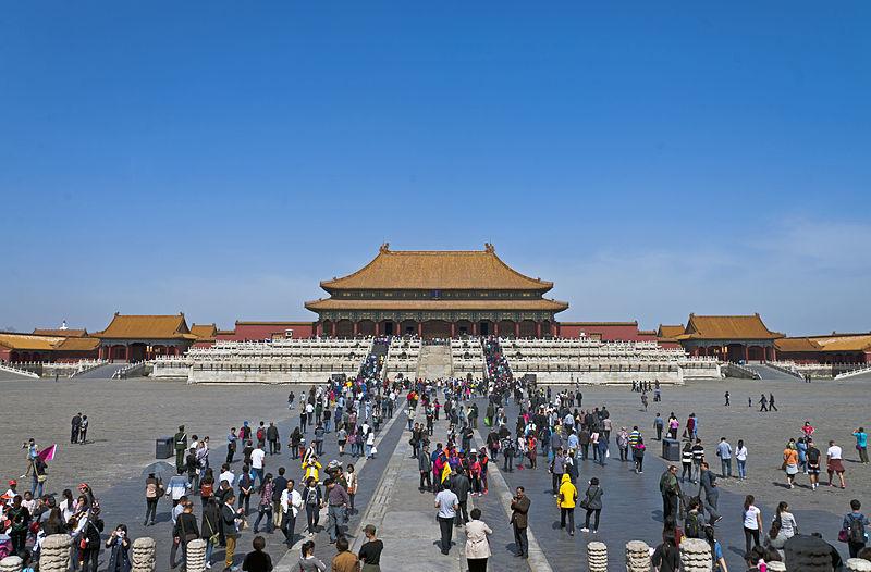 Hall of Supreme Harmony, Forbidden City, Beijing, with tourists 2.jpg
