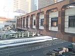 Hamamatsucho station free passages over Tokaido Shinkansen 01.jpg