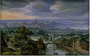 Hans Bol - Landscape with a View of Antwerp