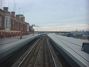 Harwich International railway station - Image: Harwich International railway station, platforms from footbridge geograph.org.uk 993687