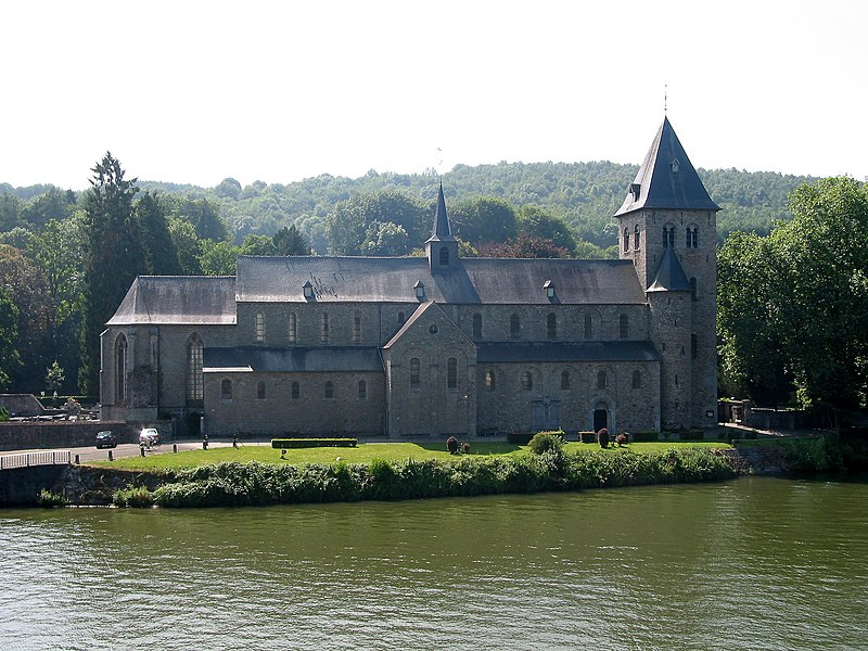 Hastière-par-Delà   (Belgium), the St. Peter Abbey church (1033-1035).