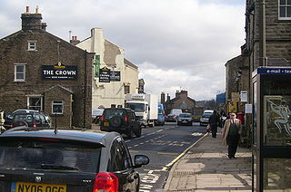 Hawes town in North Yorkshire, England