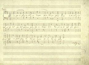 """Original copy of """"Gott erhalte Franz den Kaiser"""" in Haydn's hand (Source: Wikimedia)"""
