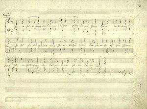 Gott erhalte Franz den Kaiser - Image: Haydn Kaiserlied Reinschrift