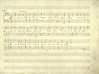 Gott erhalte Franz den Kaiser - Autograph score of the original version