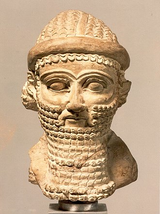 Agal (accessory) - Head sculpture of a babylonian man (ca. late 8th–early 7th century B.C), Wearing what appears to be a Keffiyah and Agal, Metropolitan Museum, New york