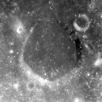 Helmert (crater) - Apollo 8 Hasselblad camera image