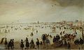Hendrick Avercamp - Skaters and golf players on frozen floodwaters by the Broederpoort at Kampen.jpg