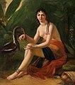 Henri Charles Antoine Baron - Beauté exotique avec ibis.jpg