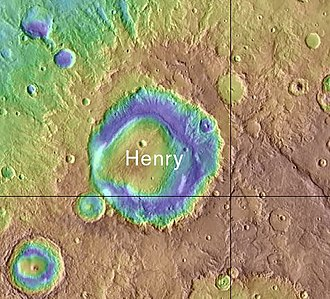 Henry (Martian crater) - Location of Henry Crater
