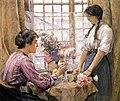 Henry Meynell Rheam - Arranging Flowers.jpg