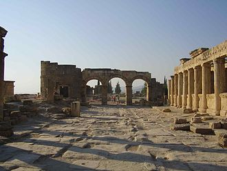 Hierapolis - The main thoroughfare of Ancient Greek City Hierapolis