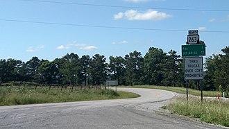 Arkansas Highway 263 - Highway 263 at Rushing