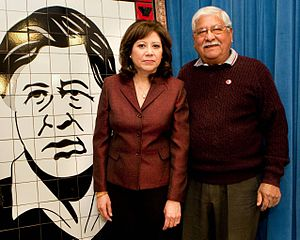 Richard Chavez - Richard Chavez with U.S. Secretary of Labor Hilda Solis.
