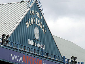 Hillsborough Stadium - The famous 124-year-old clock atop the current South Stand