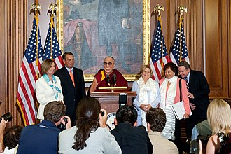 Chris Smith (New Jersey politician) - U.S. House Speaker John Boehner, former speaker Nancy Pelosi, Chair of the House Foreign Affairs Committee Ileana Ros-Lehtinen, Congressmembers Nita Lowey and Chris Smith meet the Tibetan leader 14th Dalai Lama in 2011