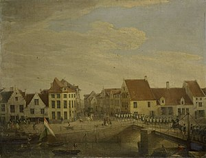 United Kingdom of the Netherlands - Dutch troops in the Flemish town of Dendermonde in 1820