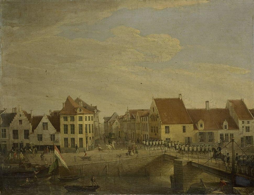 Hollandse troepen trekken door de vestingstad Dendermonde Rijksmuseum SK-A-4664.jpeg