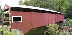 Hollingshead Covered Bridge No. 40 over Catawissa Creek