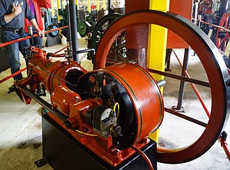 The Engine Collection - The Holstebro Engine is a typical 1930 stationary engine design. One cylinder with an open crankcase and a large flywheel. Fuel: petrol/ kerosene. 8 Hp at 380 RPM.