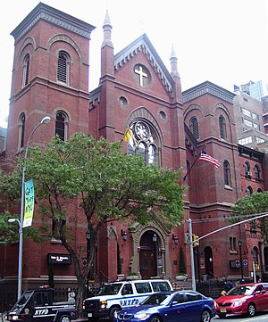 Francis P. Duffy - Holy Cross Church on 42nd Street in Manhattan, New York City