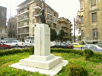 Qustaki al-Himsi - The statue of Qustaki al-Himsi in Aleppo.