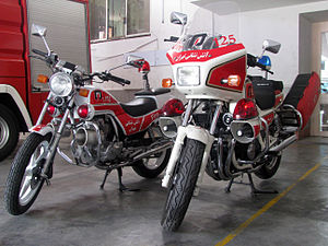 Fire bike - Honda fire bikes in service with Tehran Fire Department