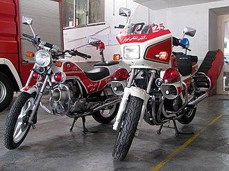 Fire bike - Honda fire bikes in service with Tehran Fire Department